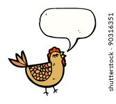 chicken with speech bubble... | Shutterstock .eps vector #90316351