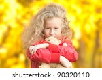 beautiful and happy little girl ... | Shutterstock . vector #90320110