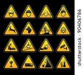 warning symbols safety signs set | Shutterstock .eps vector #90406786
