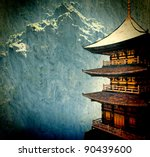 zen buddhist temple in the... | Shutterstock . vector #90439600