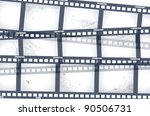 old negative film strip | Shutterstock .eps vector #90506731