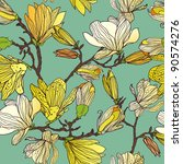 floral seamless pattern with... | Shutterstock .eps vector #90574276
