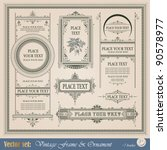 frame  border  ornament and... | Shutterstock .eps vector #90578977