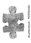 fingerprint puzzle piece | Shutterstock . vector #90596446