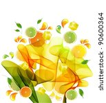 Orange And Lime Juice Splash...