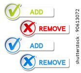 vector add remove item | Shutterstock .eps vector #90613072