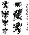 Heraldry Ornament Set  With...