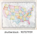 A map of the united states from ...