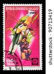 malaysia   circa 1988  a stamp... | Shutterstock . vector #90713419
