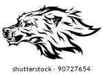 raster   angry wolf... | Shutterstock . vector #90727654