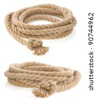 ship rope tied with knot... | Shutterstock . vector #90744962