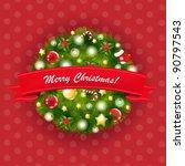 xmas vintage composition ... | Shutterstock .eps vector #90797543