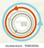 colored arrows abstract vector... | Shutterstock .eps vector #90803006