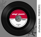 vinyl record | Shutterstock .eps vector #90808301