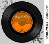 vinyl record | Shutterstock .eps vector #90808349