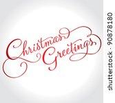 christmas greetings hand... | Shutterstock .eps vector #90878180