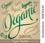 organic headlines  hand... | Shutterstock .eps vector #90878192