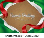 christmas card background with... | Shutterstock .eps vector #90889802