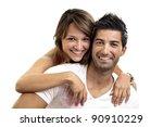 beautiful fashionable young... | Shutterstock . vector #90910229