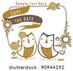 Sweet Cute Couple Owl In Garden