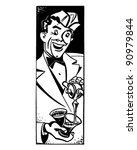 soda jerk 3   retro clipart...   Shutterstock .eps vector #90979844