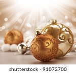 christmas vintage decoration | Shutterstock . vector #91072700