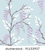 seamless pattern with wisteria... | Shutterstock .eps vector #91153937