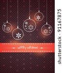 vector stylish merry christmas... | Shutterstock .eps vector #91167875