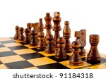 chess on a white background | Shutterstock . vector #91184318