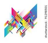 decorative planes | Shutterstock .eps vector #91298501