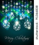 colorful christmas background | Shutterstock .eps vector #91366838