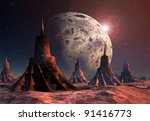 Alien Planet  Fantasy Landscap...