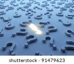 question symbols 3d.  solution... | Shutterstock . vector #91479623