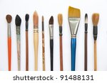 paint brushes isolated on the... | Shutterstock . vector #91488131