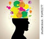 grunge head. | Shutterstock .eps vector #91492277