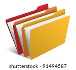 folder with documents | Shutterstock .eps vector #91494587