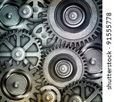 metallic gears background | Shutterstock . vector #91555778