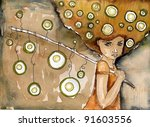 Watercolor Illustration...