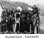 Group Of Native Americans In...