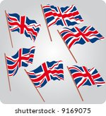 a set of six uk flags in... | Shutterstock .eps vector #9169075