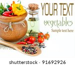 composition with vegetables and ... | Shutterstock . vector #91692926