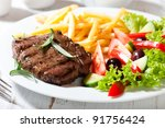 Grilled Beefsteak With French...