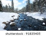 A River In The Mountains With...
