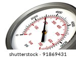 a pressure gauge reading a... | Shutterstock . vector #91869431