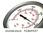 a pressure gauge reading a... | Shutterstock . vector #91869437