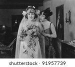 proud mother with bride   Shutterstock . vector #91957739