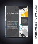 presentation of creative flyer...