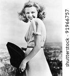 woman smiling looking vivacious | Shutterstock . vector #91966757