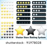 star rating system. vector... | Shutterstock .eps vector #91978028