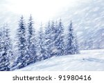 beautiful winter landscape | Shutterstock . vector #91980416